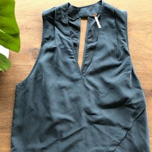 Free People tank with front slant detail